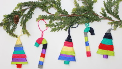 how to make homemade christmas ornaments with kids - Homemade Christmas Tree Decoration Ideas