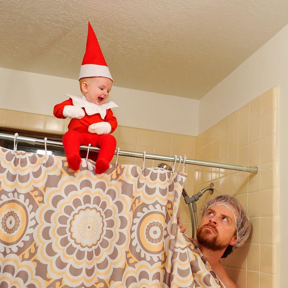 elf-in-shower
