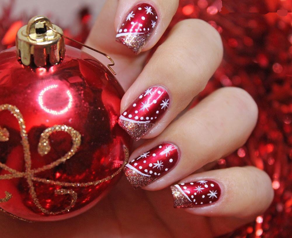 Cute Christmas nail art designs-01