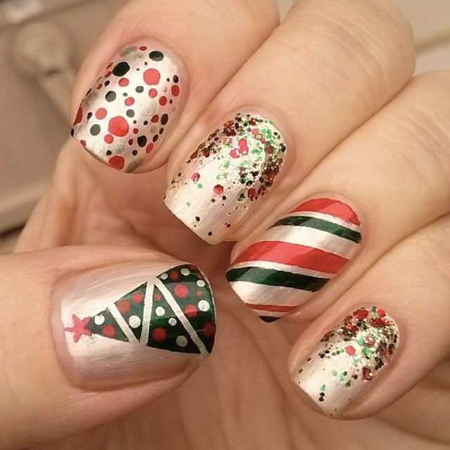 Cute Christmas nail art designs-02