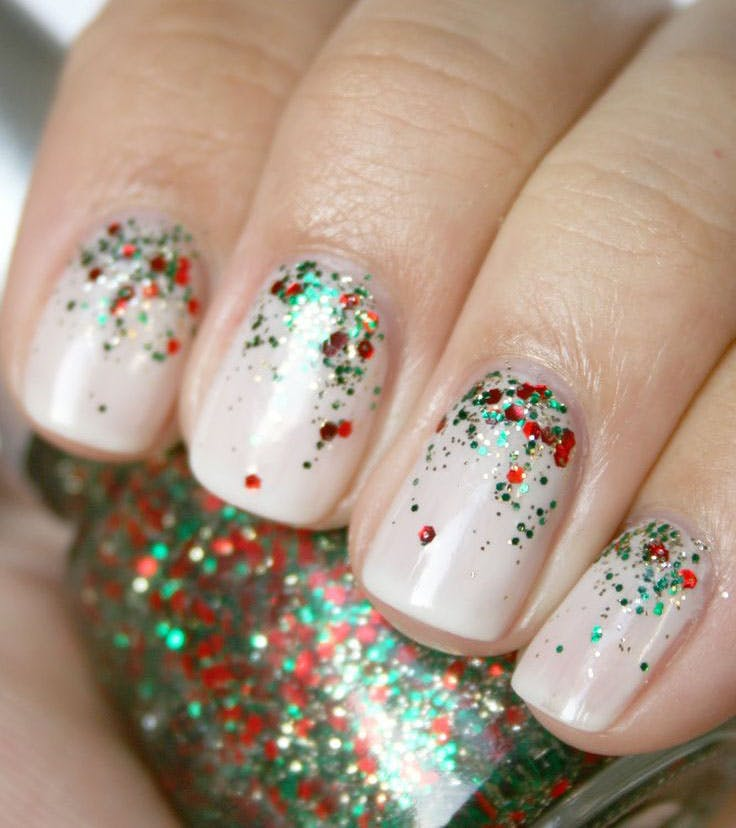 cute christmas nail art designs 03