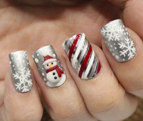 Cute Christmas nail art designs-04