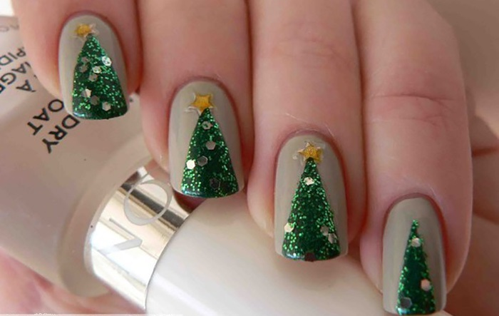 Cute Christmas nail art designs-06
