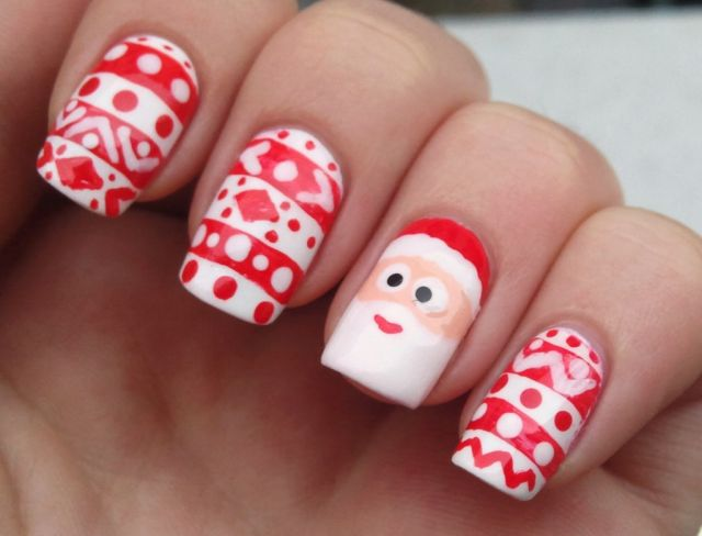 cute christmas nail art designs 08