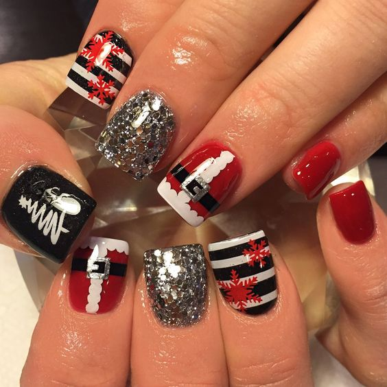 Cute Christmas nail art designs-09