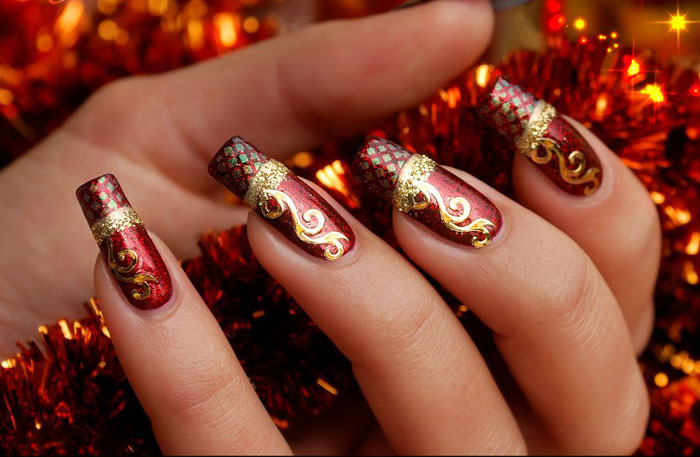 Cute Christmas nail art designs-11